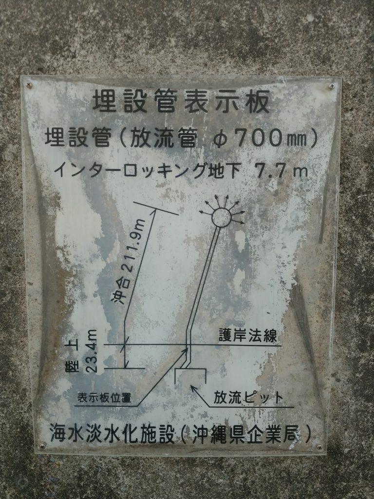 砂辺浄水場の看板