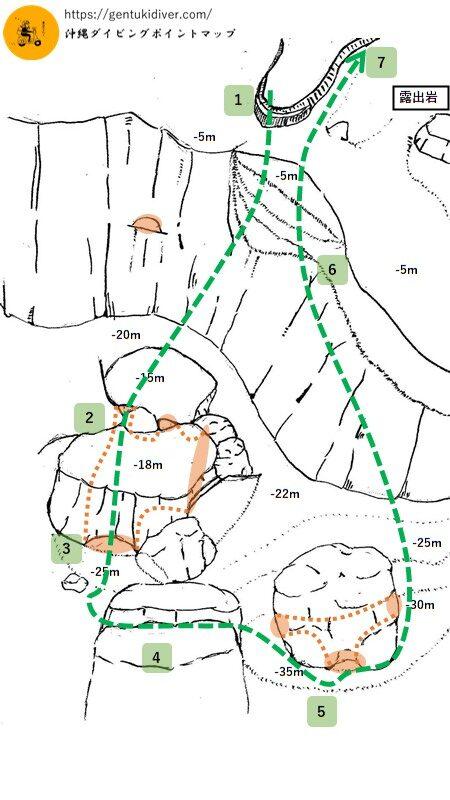 残波岬のルート案